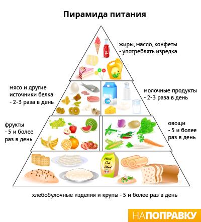 нормы употребления различных продуктов в сутки